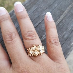 🏆18kt Gold Plated Nugget Ring 💍🏆